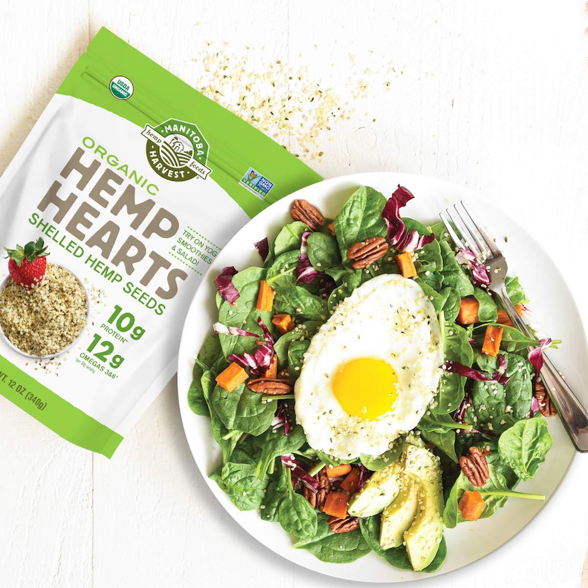 Manitoba Harvest Organic Hemp Hearts Raw Shelled Hemp Seeds Whole Food Muscle Club