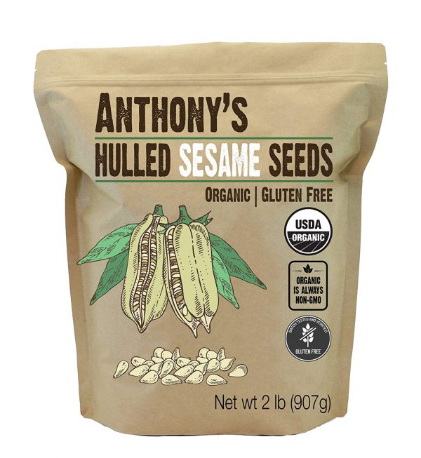 Anthony's Organic Hulled Sesame Seeds