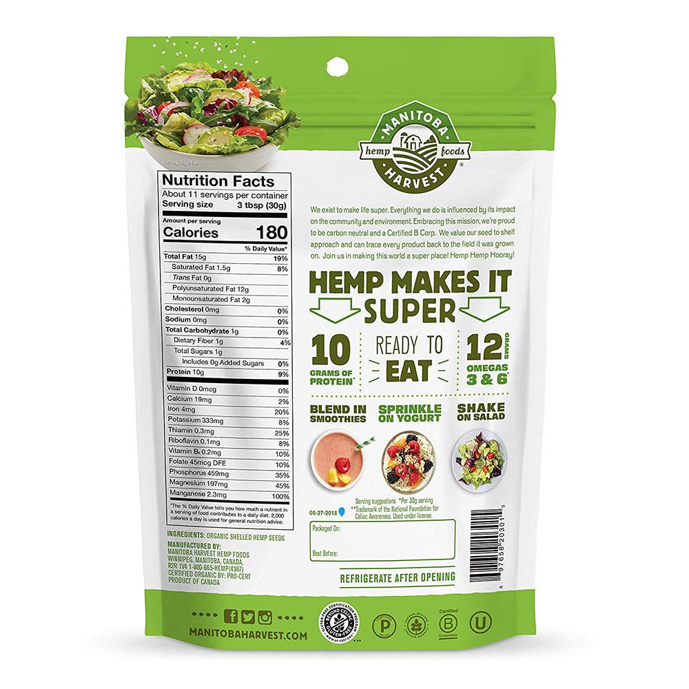 Manitoba Harvest Organic Hemp Hearts Raw Shelled Hemp Seeds