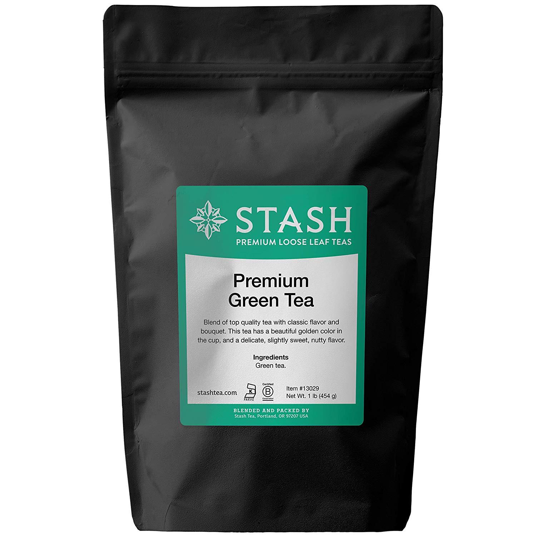 Stash Tea Premium Green Loose Leaf Tea 1 Pound Loose Leaf